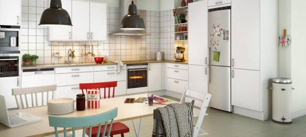 scandinavian interior design kitchen white Beautiful Scandinavian Kitchens