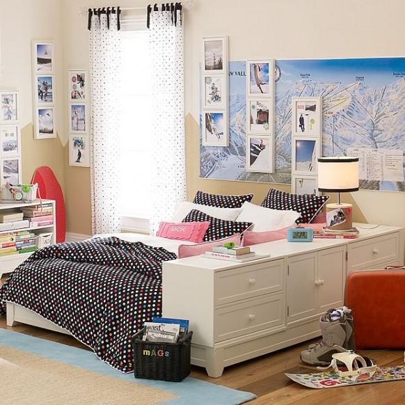 blanco y negro dormitorio
