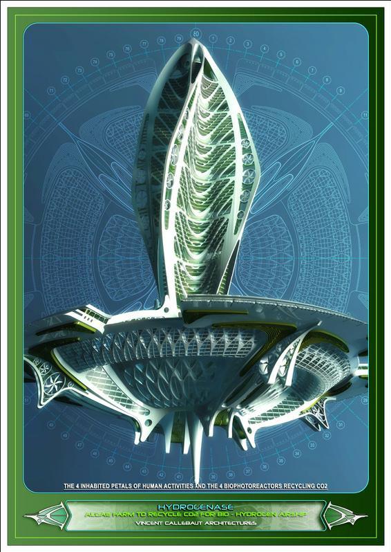 Artsy Achitecture Hydrogenase Algae Farm by Vincent