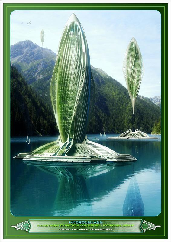 Artsy Achitecture Hydrogenase Algae Farm by Vincent Callebaut