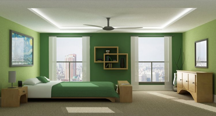 Dark Green Paint Bedroom