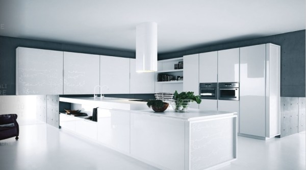 modern white kitchen cabinets White Kitchens