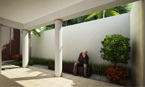 courtyard design and landscaping