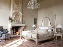 French Bedroom with Fireplace