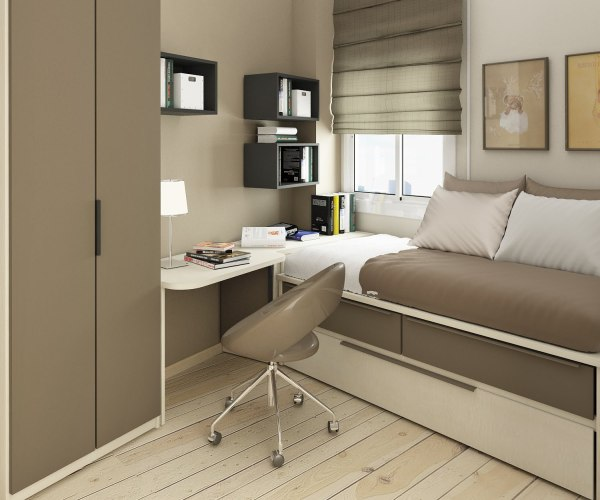 small bedroom spaces Small Floorspace Kids Rooms