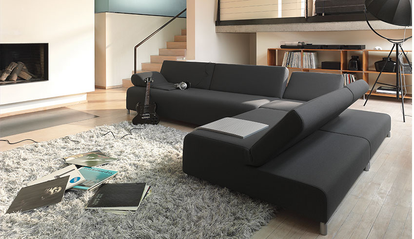 dark sofa in small living room craftsman plans colorful sets set