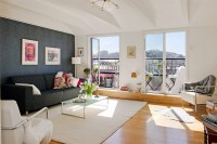 simply urban living room offers traditional luxury ...