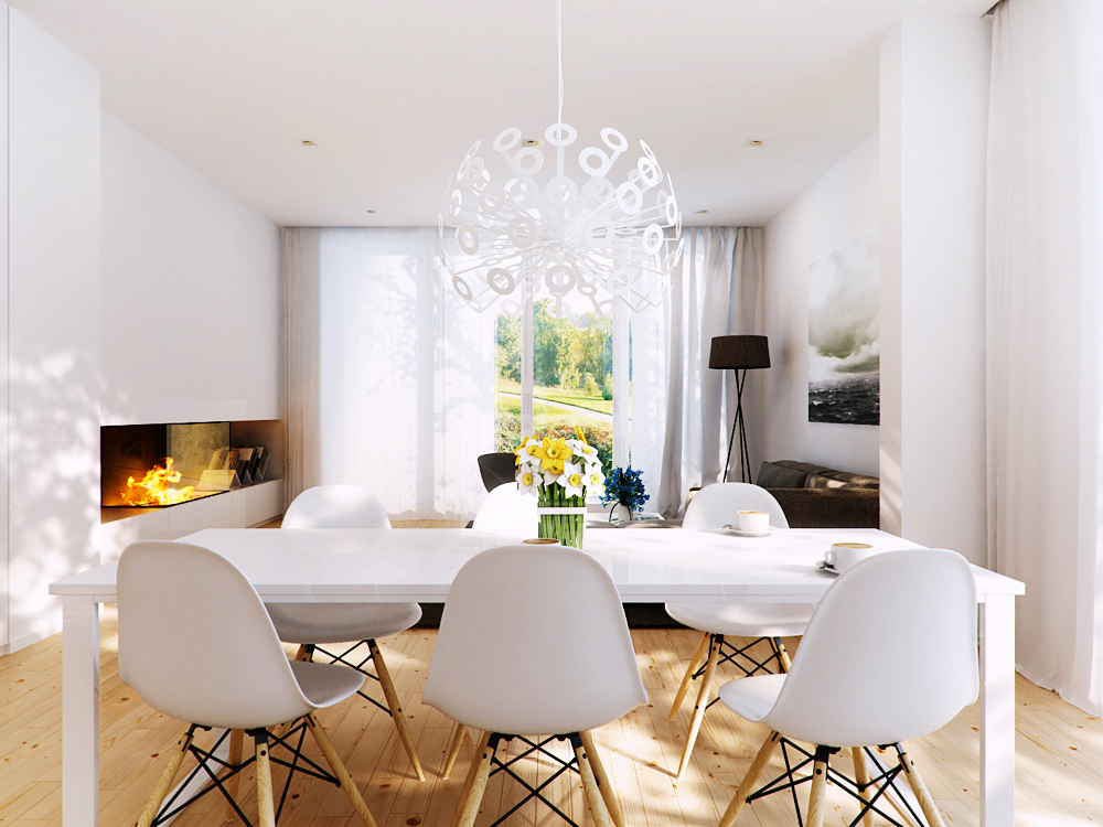 modern white furniture for living room open and kitchen designs dining chairs advantages disadvantages