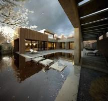 Japanese Style Pool House