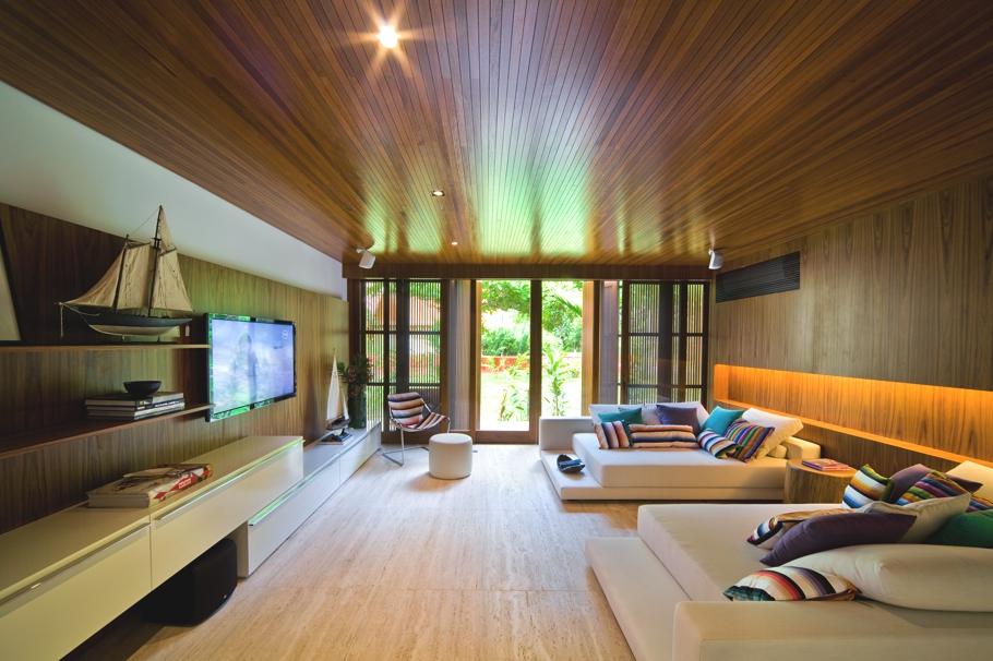 luxury wooden living room  Interior Design Ideas