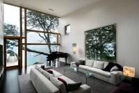 swaniwck living room with large windows