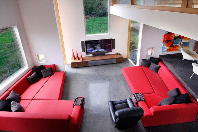 Red And Black Living Room Swanwick Red And Black Living Room | Interior Design Ideas.