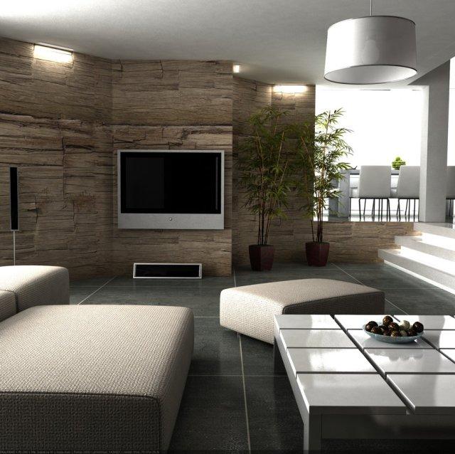 texture wall living room | Interior Design Ideas