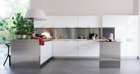 White and Polished Silver Kitchen | Interior Design Ideas.