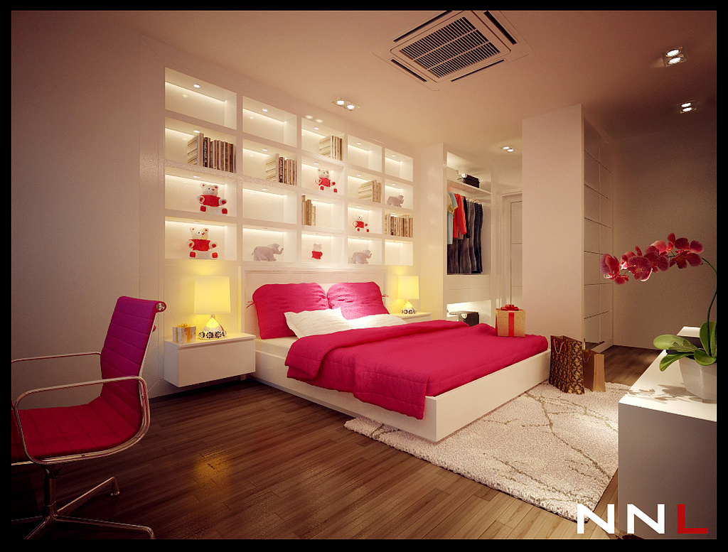 pink white bedroom | interior design ideas.