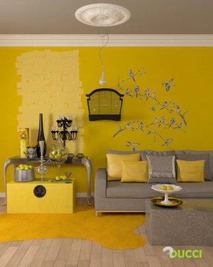 yellow rooms inspiration interior living pleasure viewing theme designing walls grey gray decor wall paint decorating lemon bedroom fruit furniture