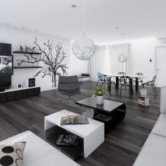 Modern Interior Design Living Room Black And White How To Decorate A Long Rectangular Interiors
