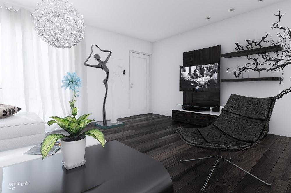Black White Interiors. Black And White Living Room ... Part 85