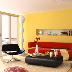 Wall Color Combination For Living Room Rooms Chairs Yellow Interior Inspiration 55 Your Viewing Pleasure