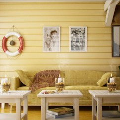 Beachy Living Room Wall Colors How To Decorate With Tv Over Fireplace Yellow Interior Inspiration: 55+ Rooms For Your ...