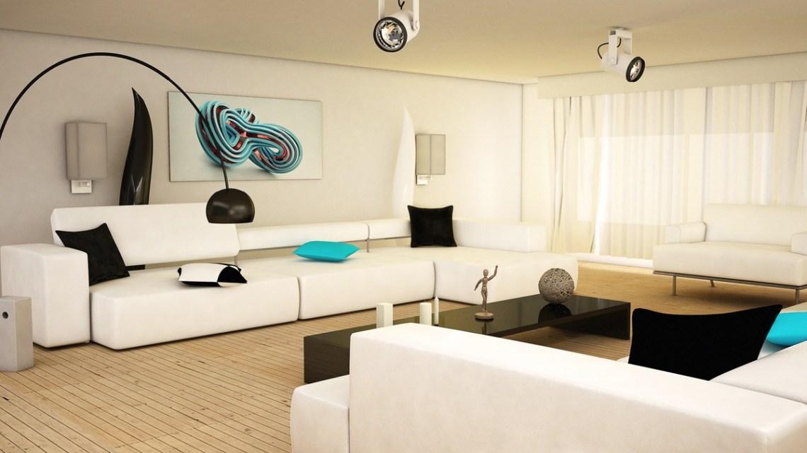 8 Black and white aqua living room | Interior Design Ideas.