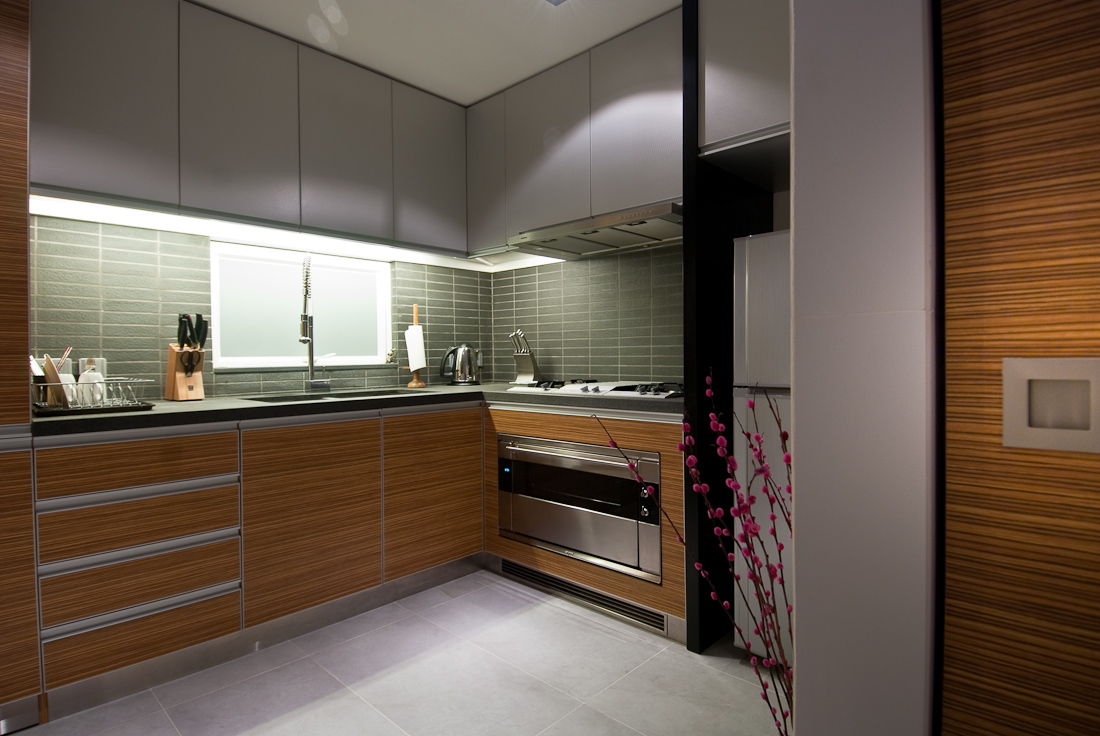 contemprary wood kitchen | interior design ideas.