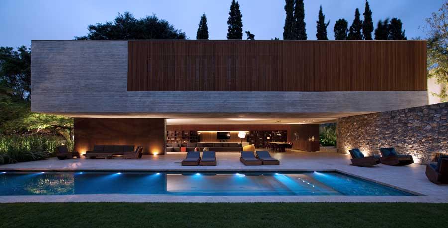 Stunning Open House Design Pool Interior Design Ideas