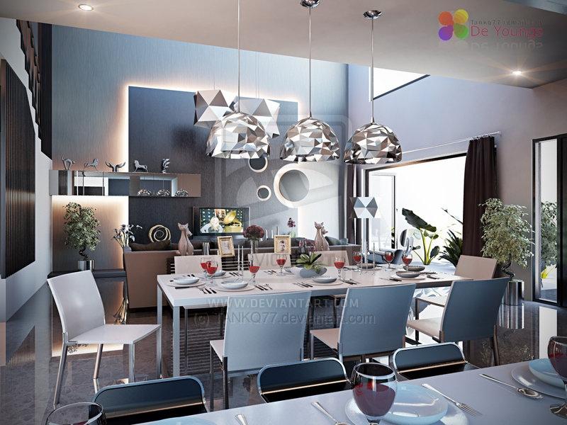 10 black white modern dining room  Interior Design Ideas