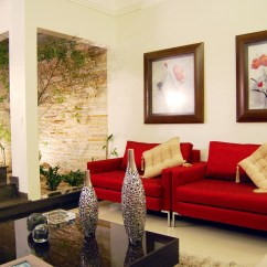 Red And White Living Room Ideas With Black Couches 12 Courtyard Interior Design