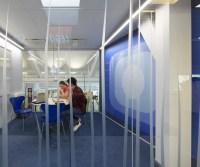 Blue meeting room wall mural | Interior Design Ideas.