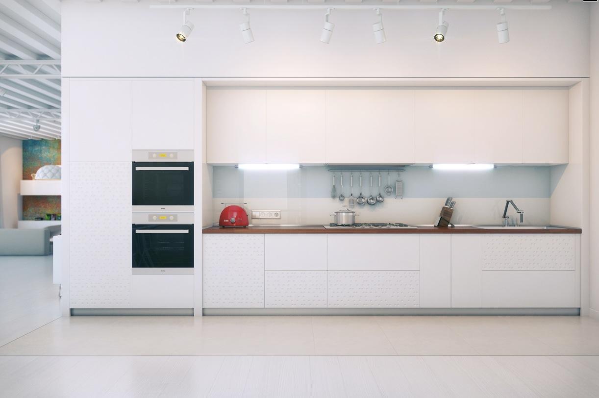 white kitchen decor lighting idea contemporary interior design ideas