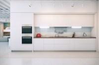 Contemporary white kitchen | Interior Design Ideas.