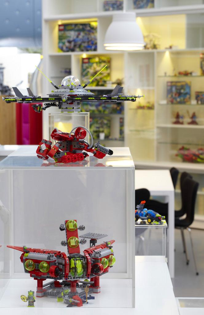 LEGO Office Toy Display Interior Design Ideas