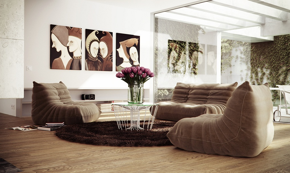 Low level seating living room