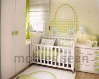 green white baby nursery room | Interior Design Ideas.