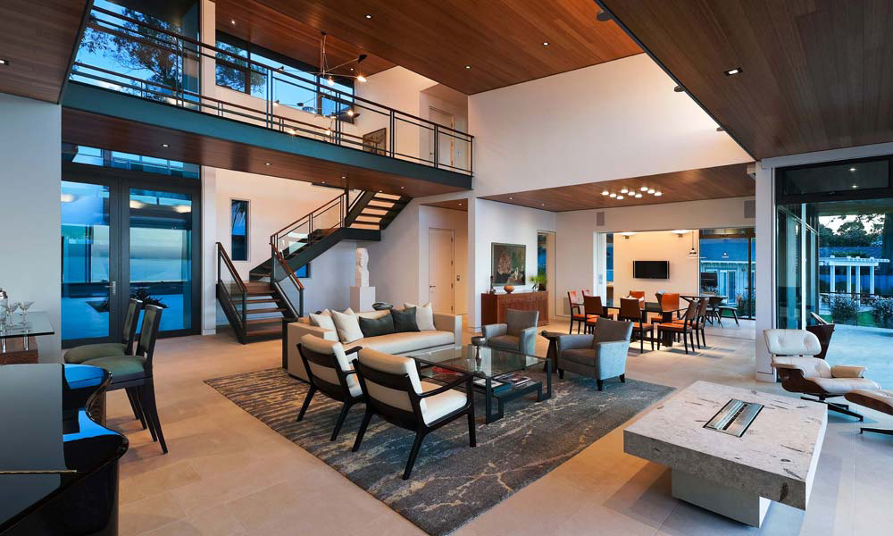 Modern living room open plan house