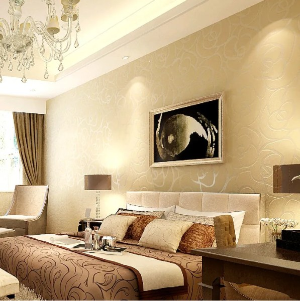modern neutral bedroom design Exquisite Wall Coverings from China