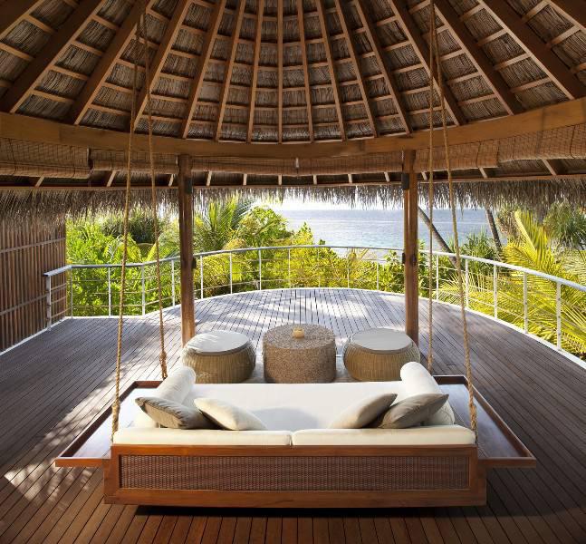 W Retreat Maldives decking porch swing