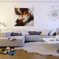Light Grey Modern Sofa Bed Canada Kijiji Make A White Living Room Chic And Unique