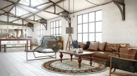 industrial utilitarian living space