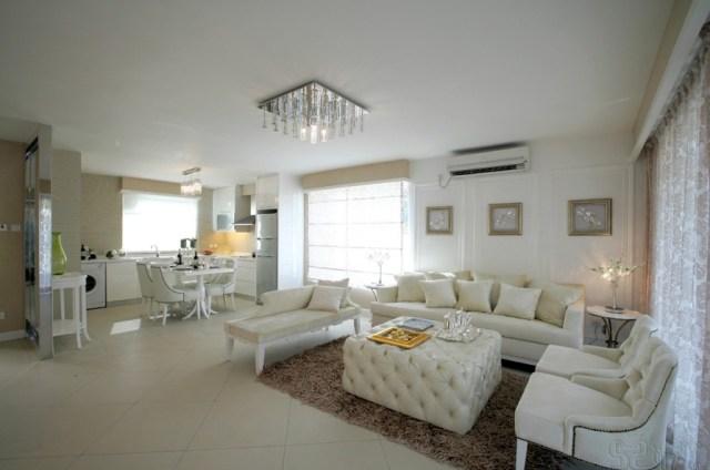 | white living room kitchen dinerInterior Design Ideas.