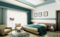 white teal bedroom platform bed