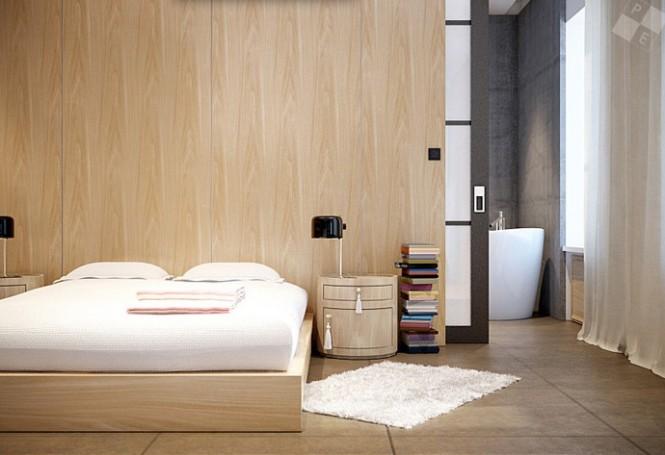 Beech wood platform bed