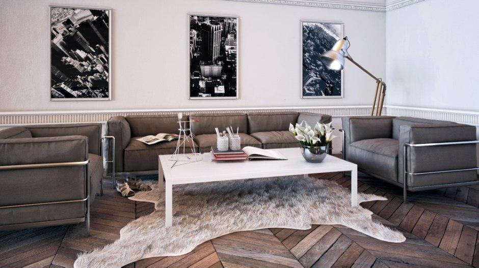 Masculine living room  Interior Design Ideas