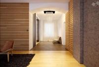 Modern wood clad interior walls   Interior Design Ideas.