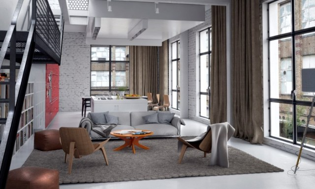 Neutral modern living room | Interior Design Ideas.