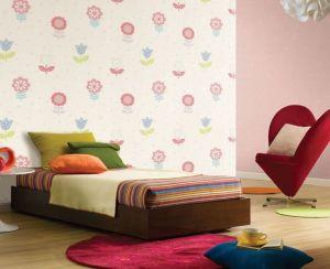 colorful wallpapers bedroom rooms flower flores interior decoration children floral dos habitaciones decoracion papel tapiz bed hacer nina fun moderna