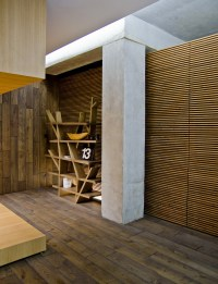 contemporary wood cladding flooring