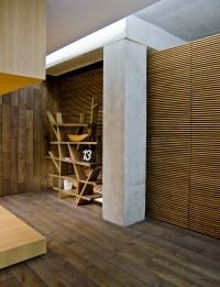 contemporary wood cladding flooring | Interior Design Ideas.