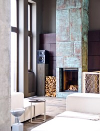 modern fireplace industrial decor | Interior Design Ideas.